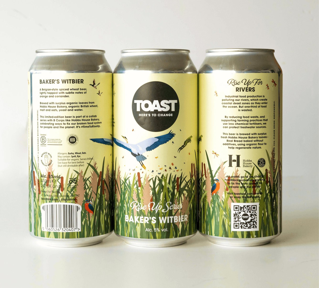 Toast Ale Canned Baker's Witbier Wheat Beer