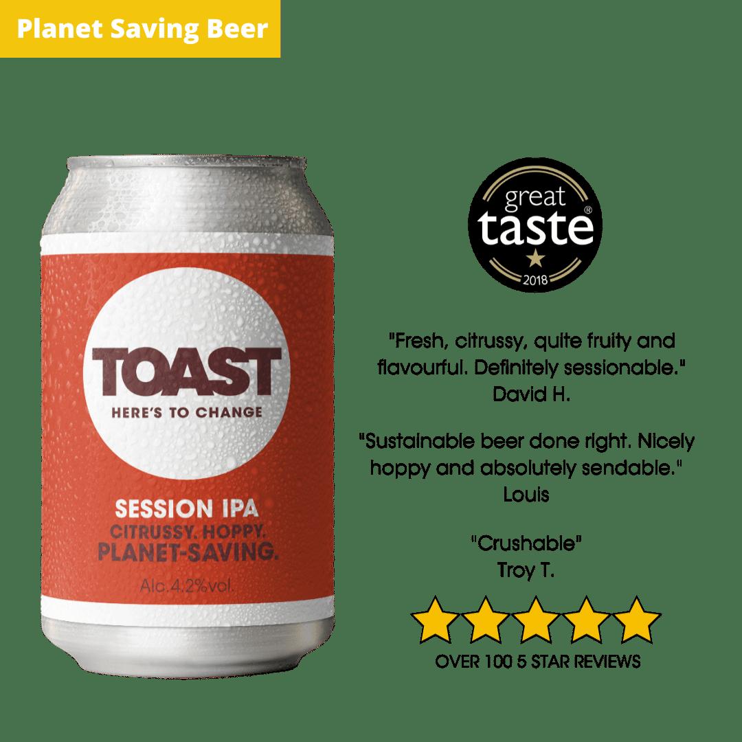 Toast Ale Canned IPA Bread Beer great taste awards