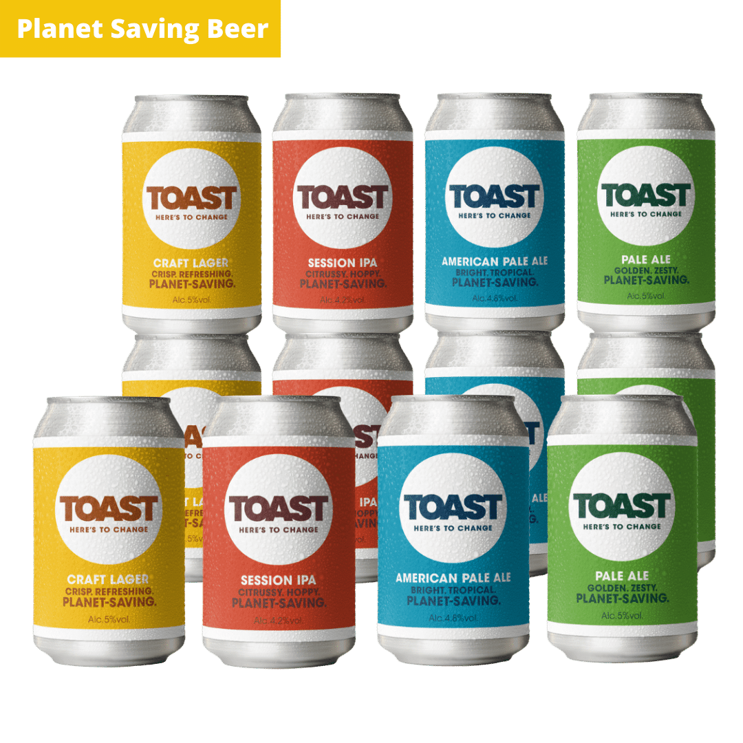 Toast Ale cans Bread Beer Mixed Case craft beer vegan