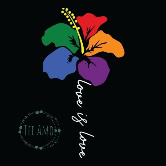 Women's Love is Love Rainbow Flower Vest Tee Kind Shop 2