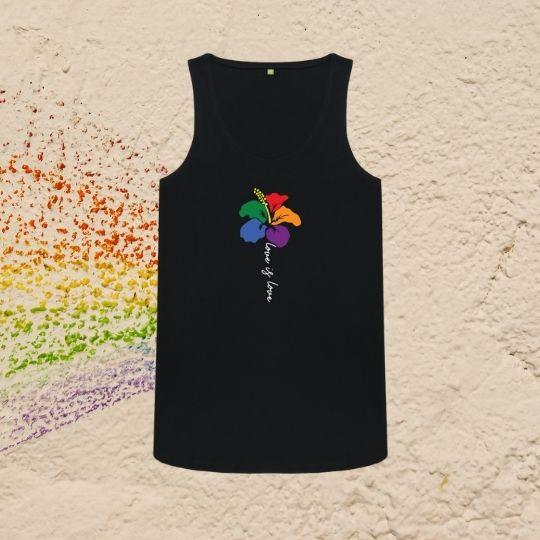 Love Is Love Rainbow Flower LGBT Ladies Vest