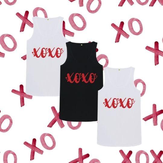XOXO Women's Organic Cotton Vest Tee