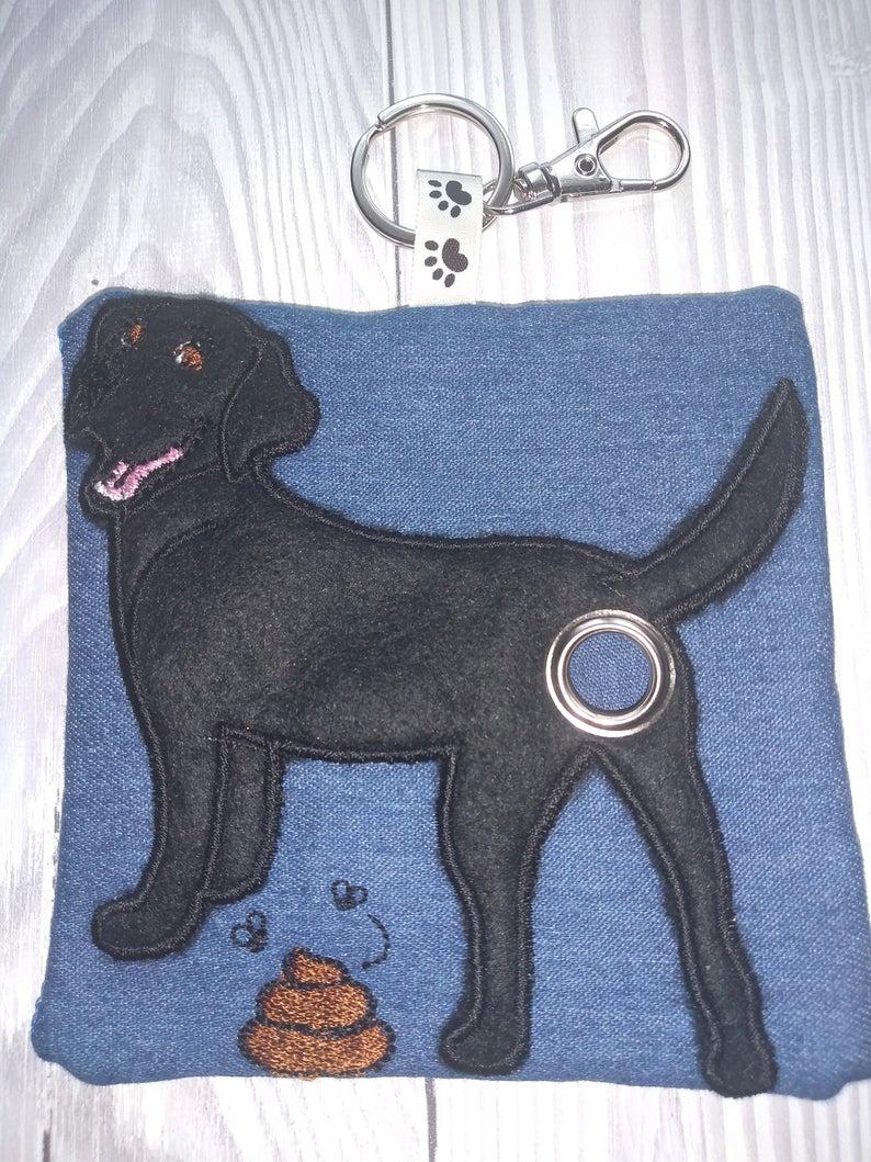 Black Labrador Eco Plastic Free Dog Poo Bag Holder Kind Shop