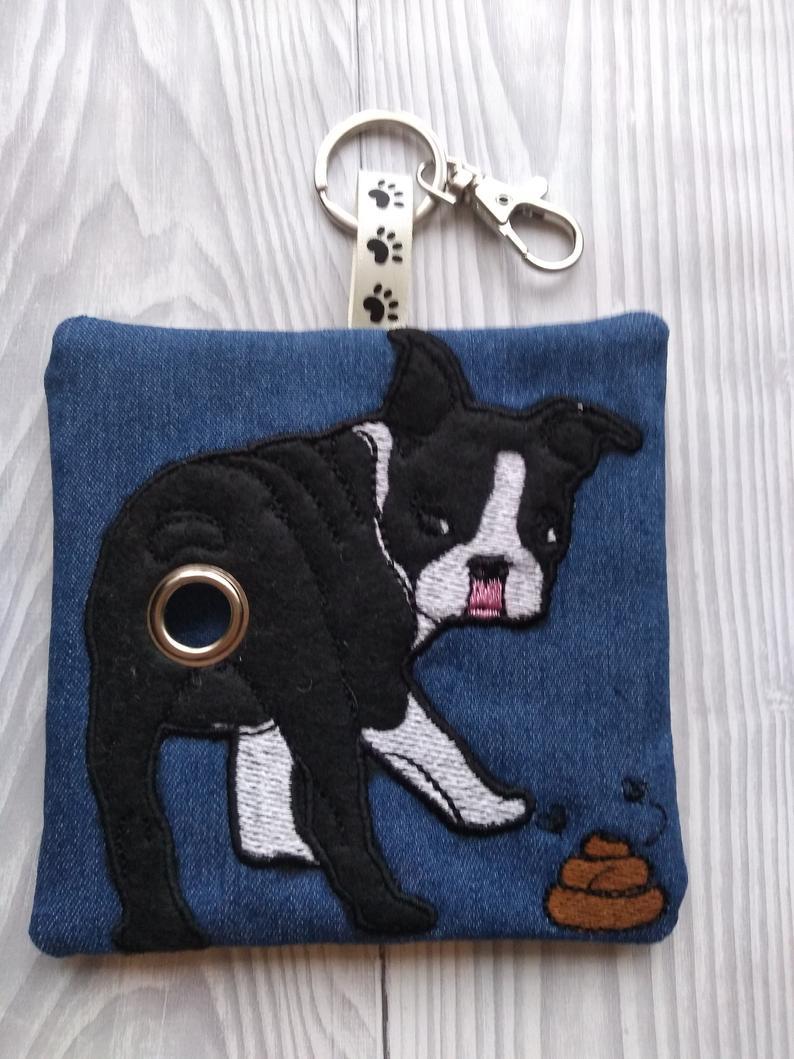 Boston Terrier Eco Plastic Free Dog Poo Bag Holder – Black & White Kind Shop 2