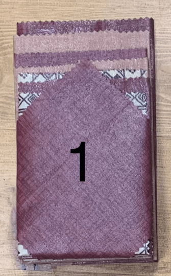 Beeswax Food Wraps – Large Pack of 8 (Burgundy & Pink Print) Kind Shop 2