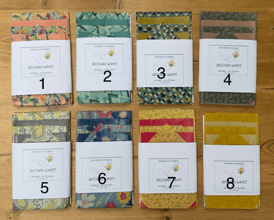 Beeswax Food Wraps – Pack of 5 Kind Shop 2