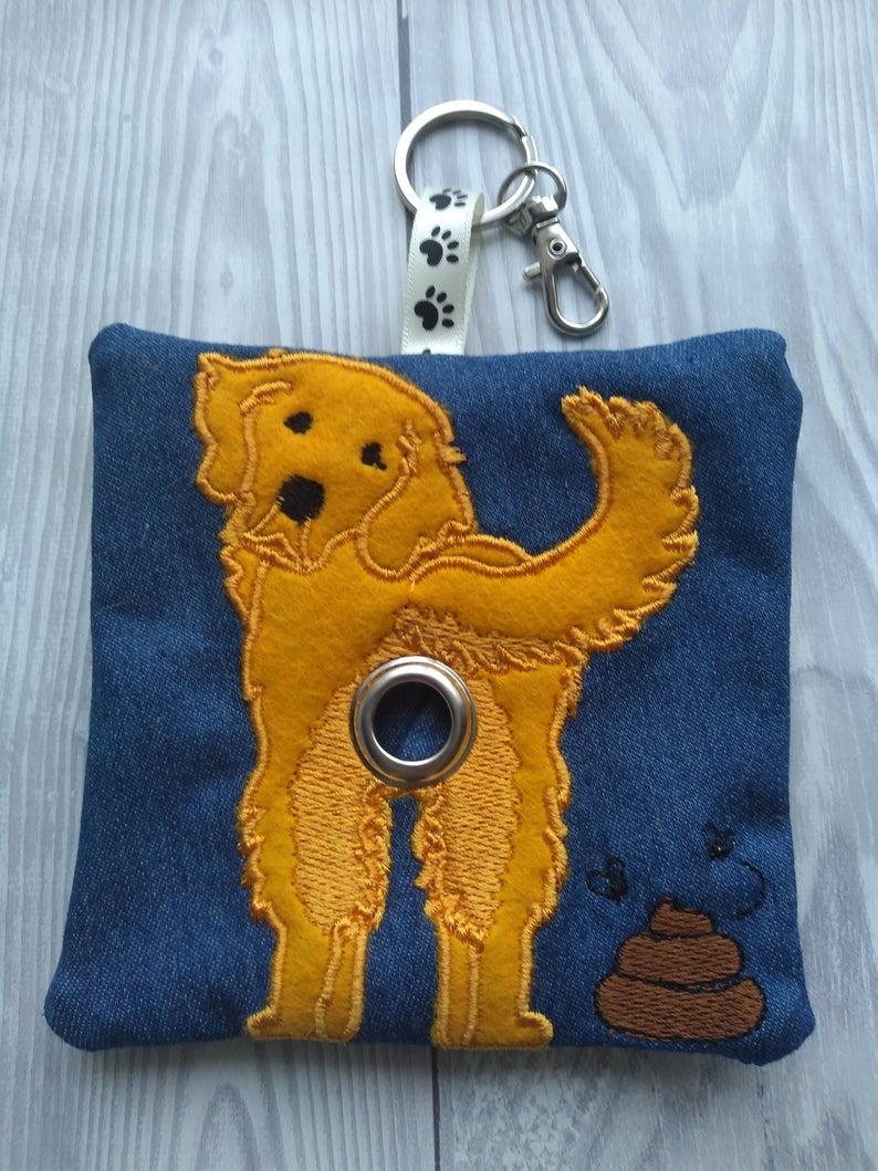 Golden Retriever Eco Plastic Free Dog Poo Bag Holder – Gold Kind Shop