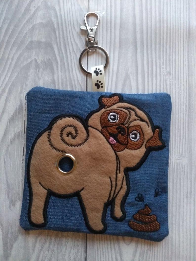 Pug Eco Plastic Free Dog Poo Bag Holder Kind Shop