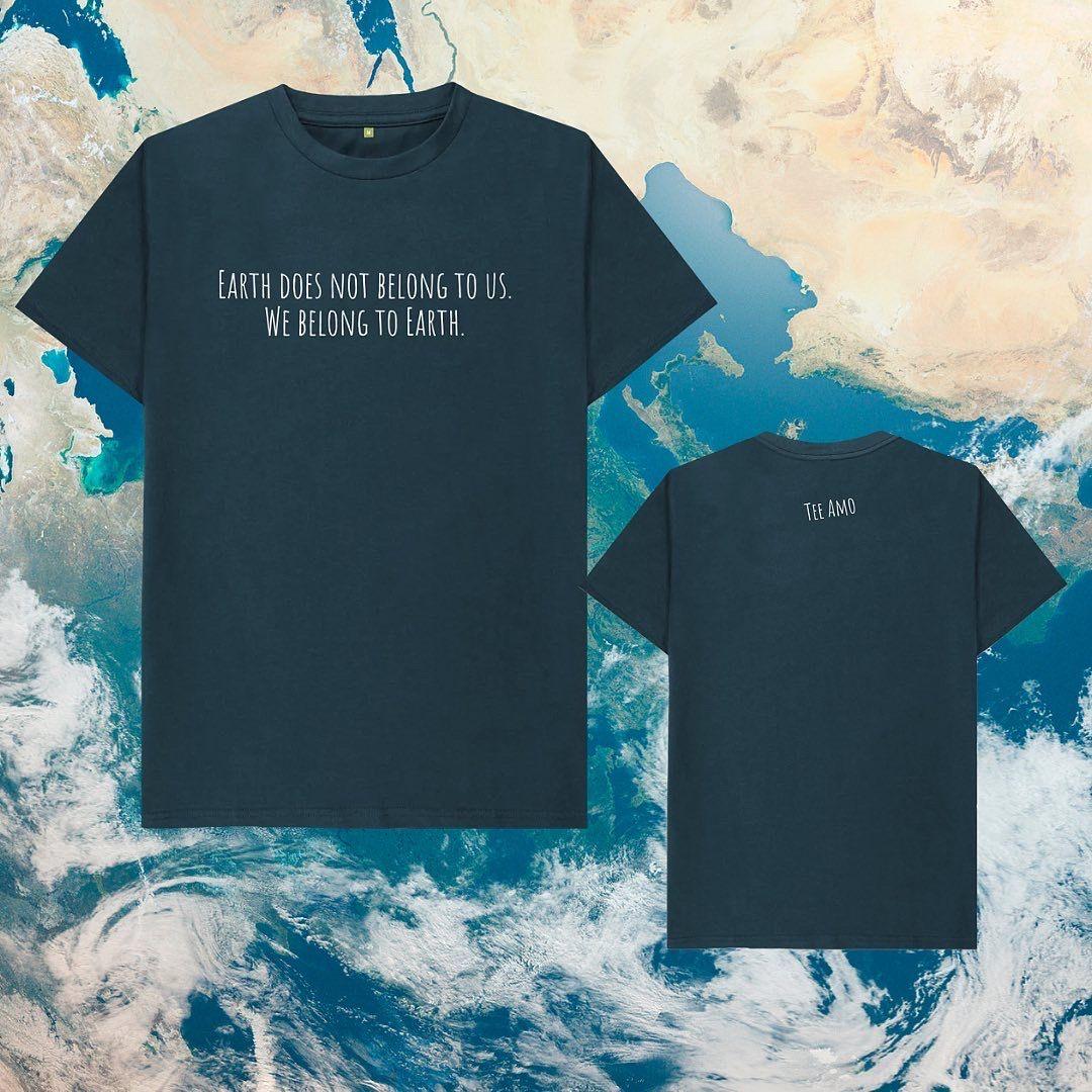 Mens WE BELONG TO EARTH Organic Cotton T-shirt Kind Shop