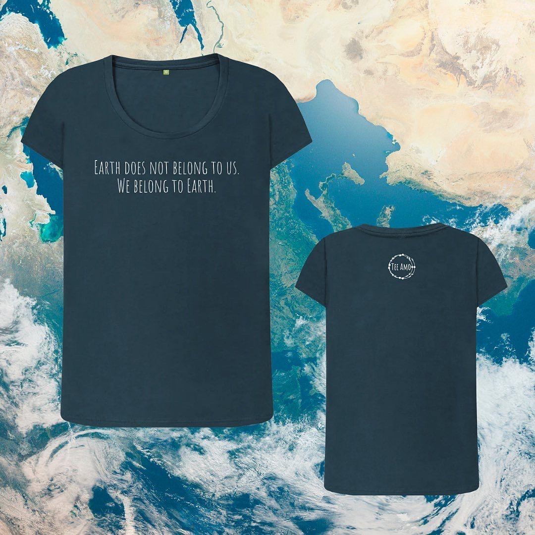 Women's WE BELONG TO EARTH Organic Cotton T-shirt Kind Shop 2