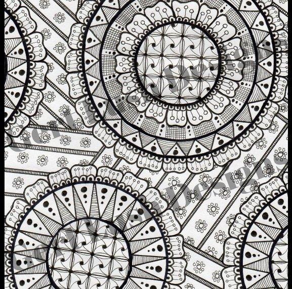 Positive Mindful Colouring Sheet Artwork Poster Print – Doodle Fest Kind Shop 2