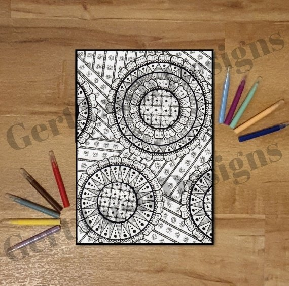 A4 Print At Home Mindful Mandala Colouring Sheet – Doodle Fest Kind Shop
