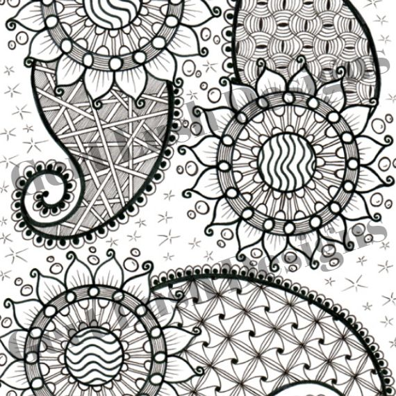 A4 Print At Home Positive Mindful Colouring Sheet – Paisley Power Kind Shop 2