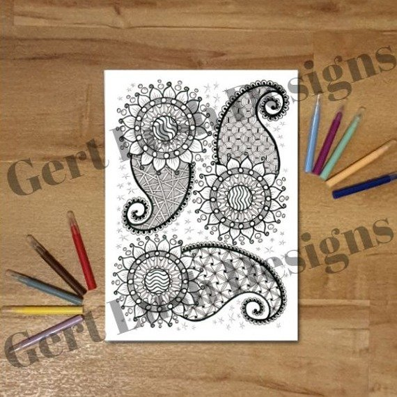 A4 Print At Home Positive Mindful Colouring Sheet – Paisley Power Kind Shop