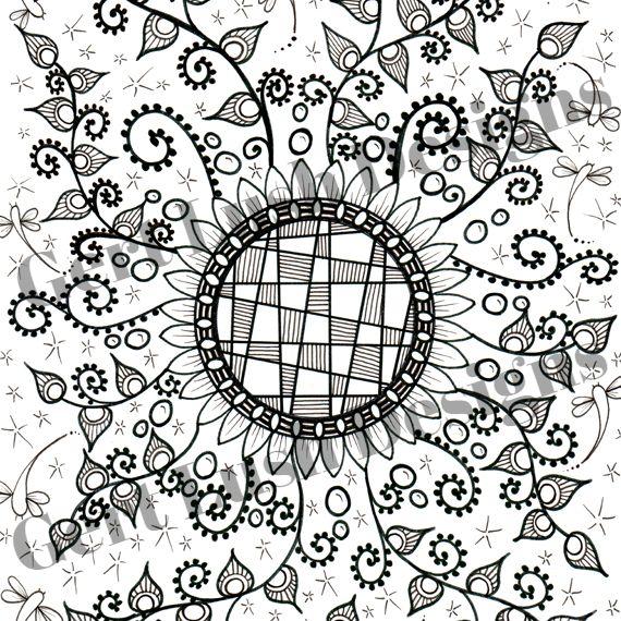 Positive Mindful Colouring Sheet Artwork Poster Print – Flower Crazy Kind Shop 2