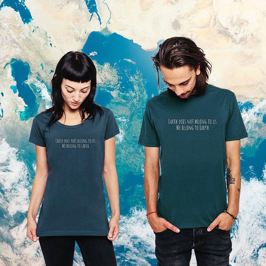 Mens WE BELONG TO EARTH Organic Cotton T-shirt Kind Shop 2