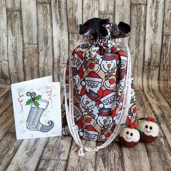 Christmas Characters Eco-Friendly Fully Lined Reusable Christmas Gift Bag Kind Shop