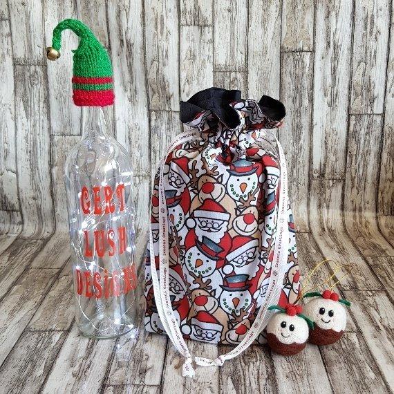 Christmas Characters Eco-Friendly Fully Lined Reusable Christmas Gift Bag Kind Shop 2