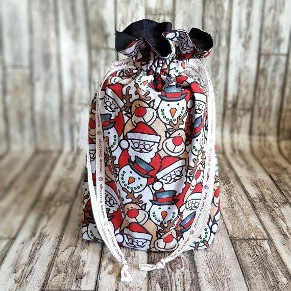 Christmas Characters Eco-Friendly Fully Lined Reusable Christmas Gift Bag Kind Shop 3
