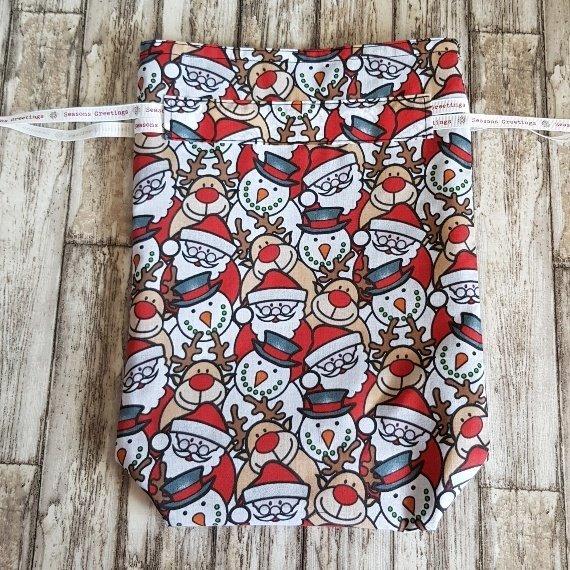 Christmas Characters Eco-Friendly Fully Lined Reusable Christmas Gift Bag Kind Shop 5