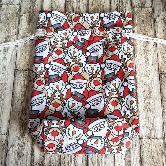 Christmas Characters Eco-Friendly Fully Lined Reusable Christmas Gift Bag Kind Shop 6