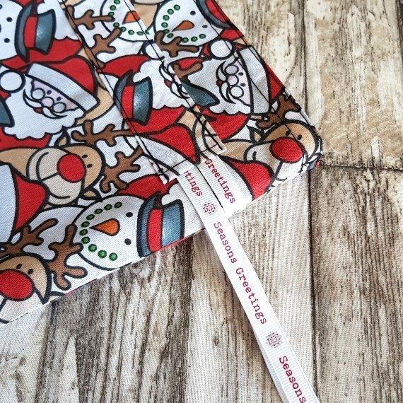 Christmas Characters Eco-Friendly Fully Lined Reusable Christmas Gift Bag Kind Shop 7