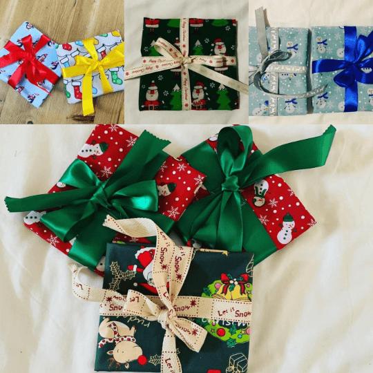 Christmas Reusable Fabric Gift Wrap