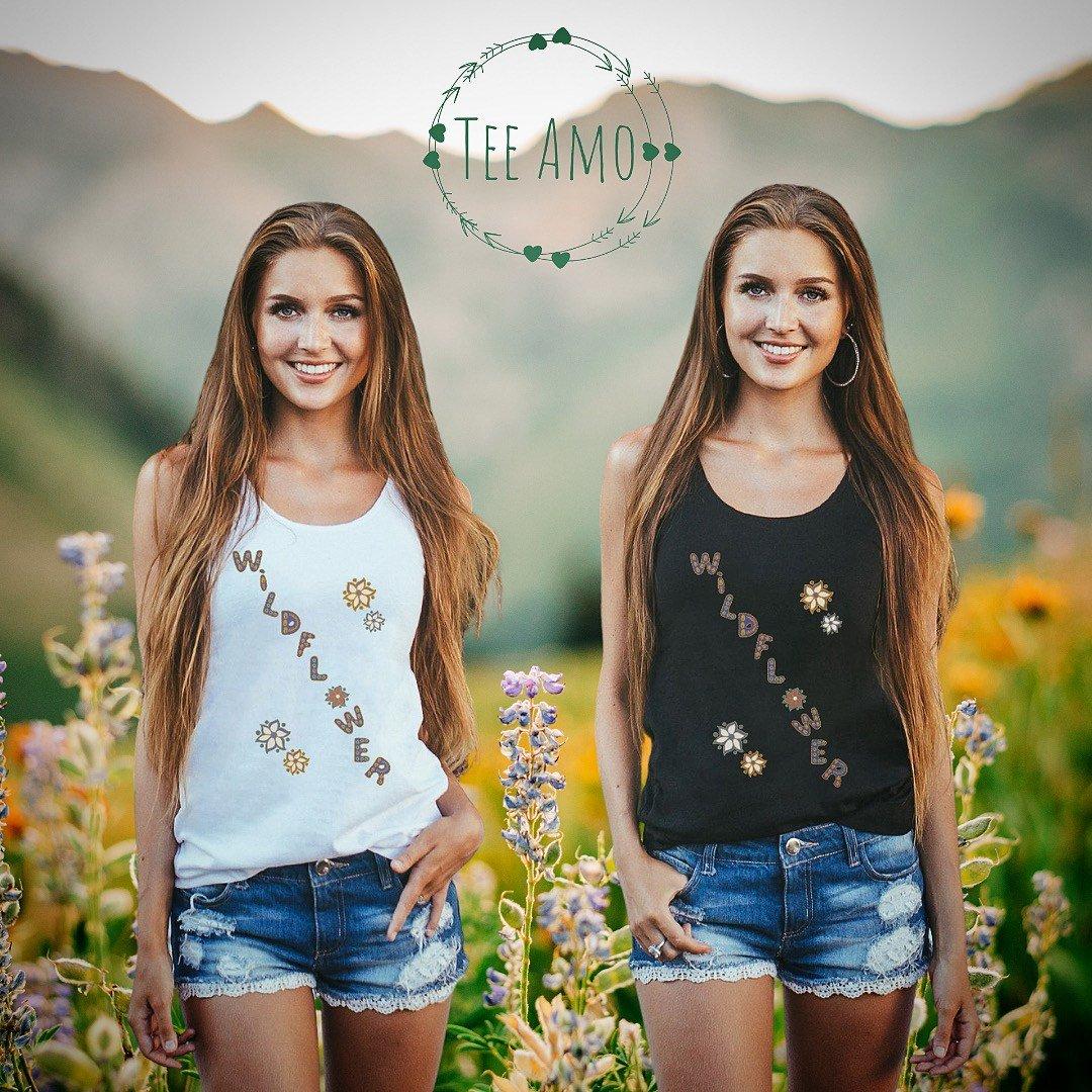 Nature Lovers Wildflower Women's Eco Vest T Shirt - Organic Cotton, Vegan