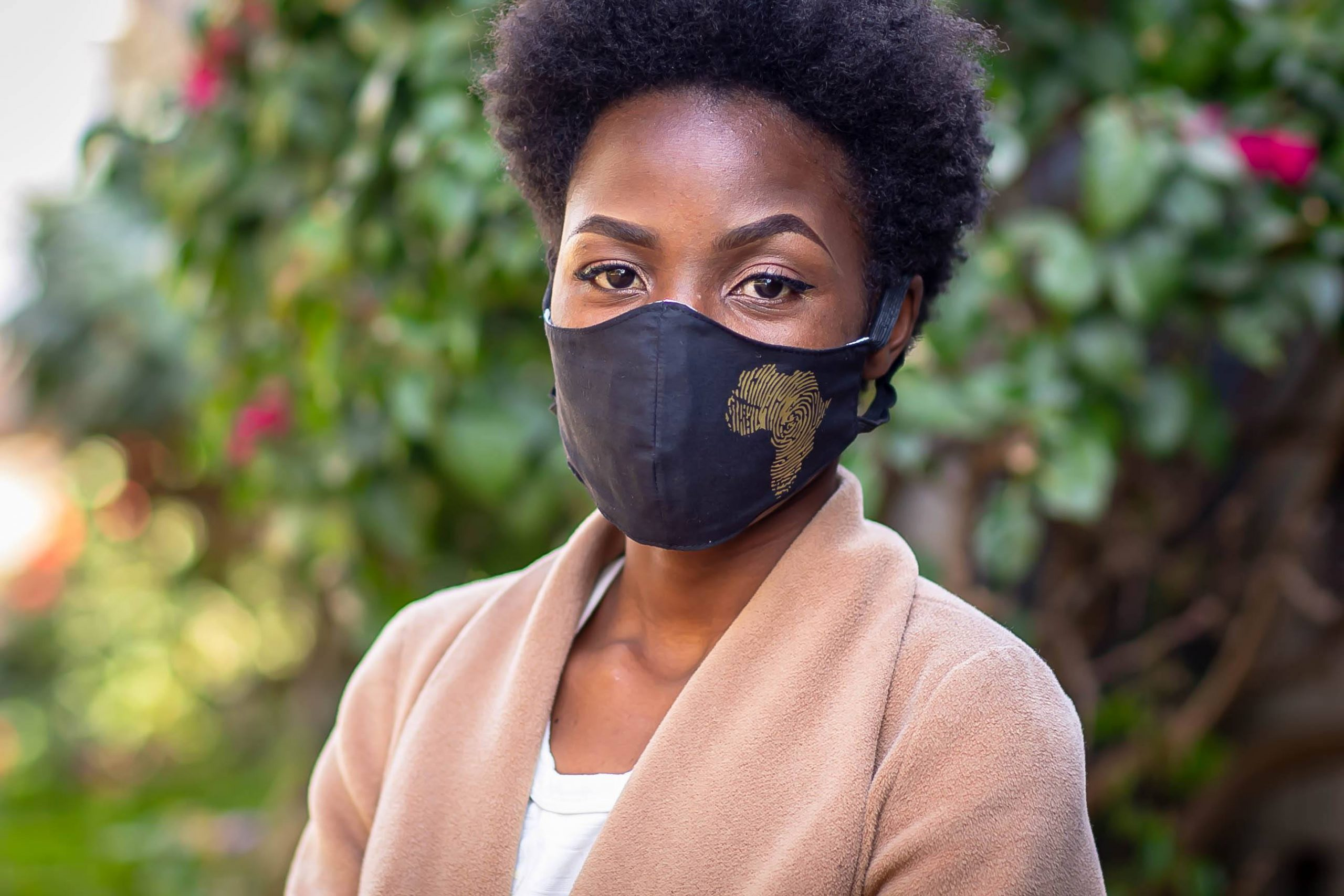 Gold Heat printed Africa Mask Kind Shop