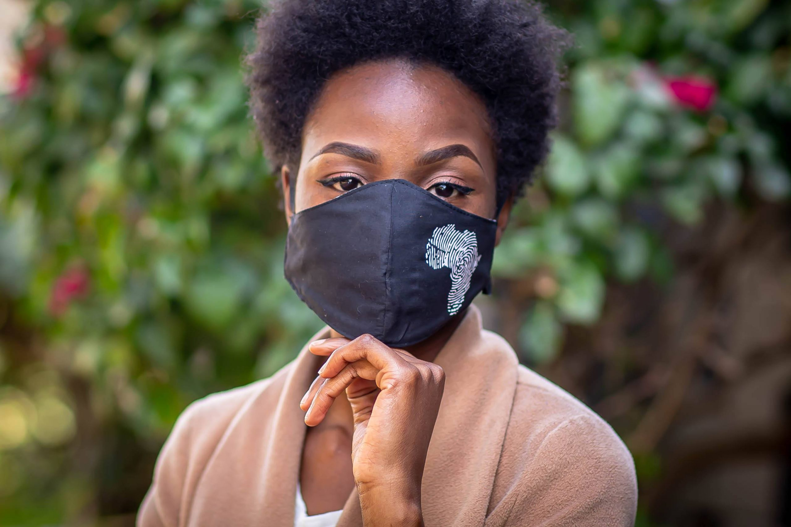 White Heat printed Africa Mask Kind Shop