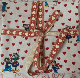 Valentines Reusable Fabric Gift Wrap