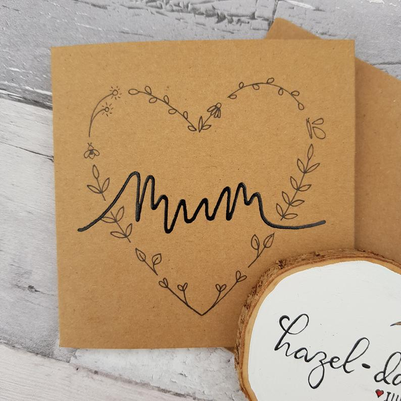 Mothers Day Card Hearts