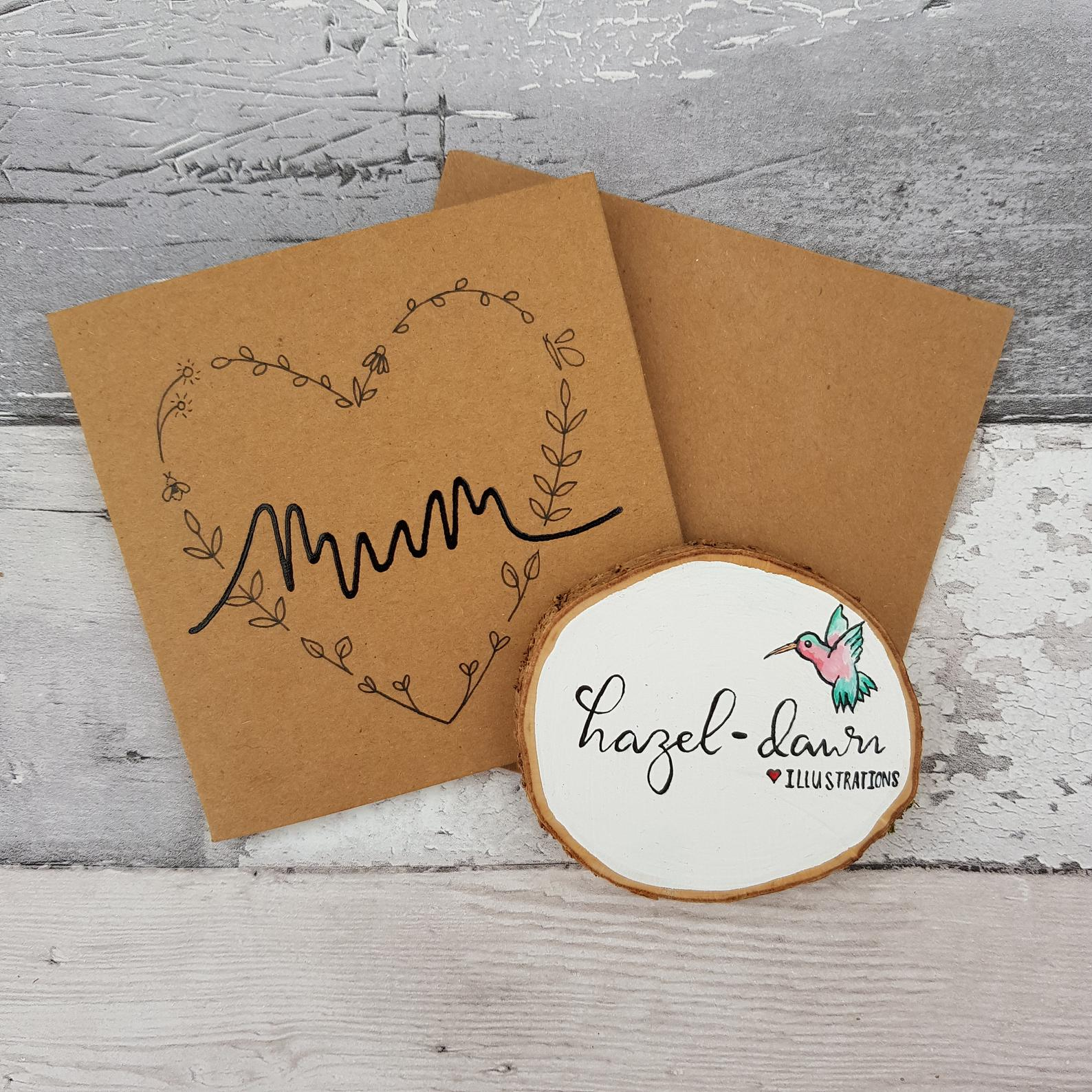 Mothers Day Hearts Flowers Card