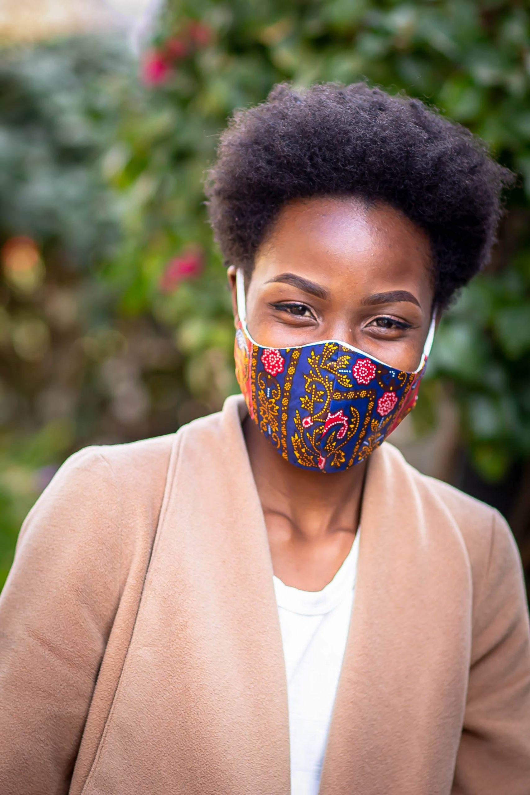 Printed Paisely Navy Ankara Mask Kind Shop