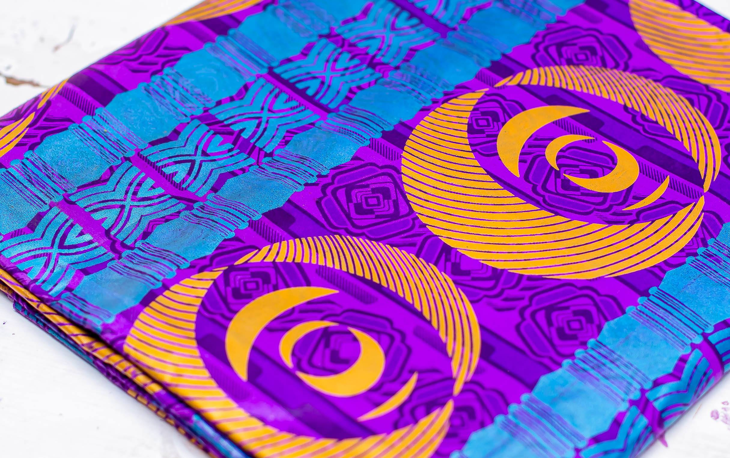 Printed Purple and Orange Glitter Mask Kind Shop 4