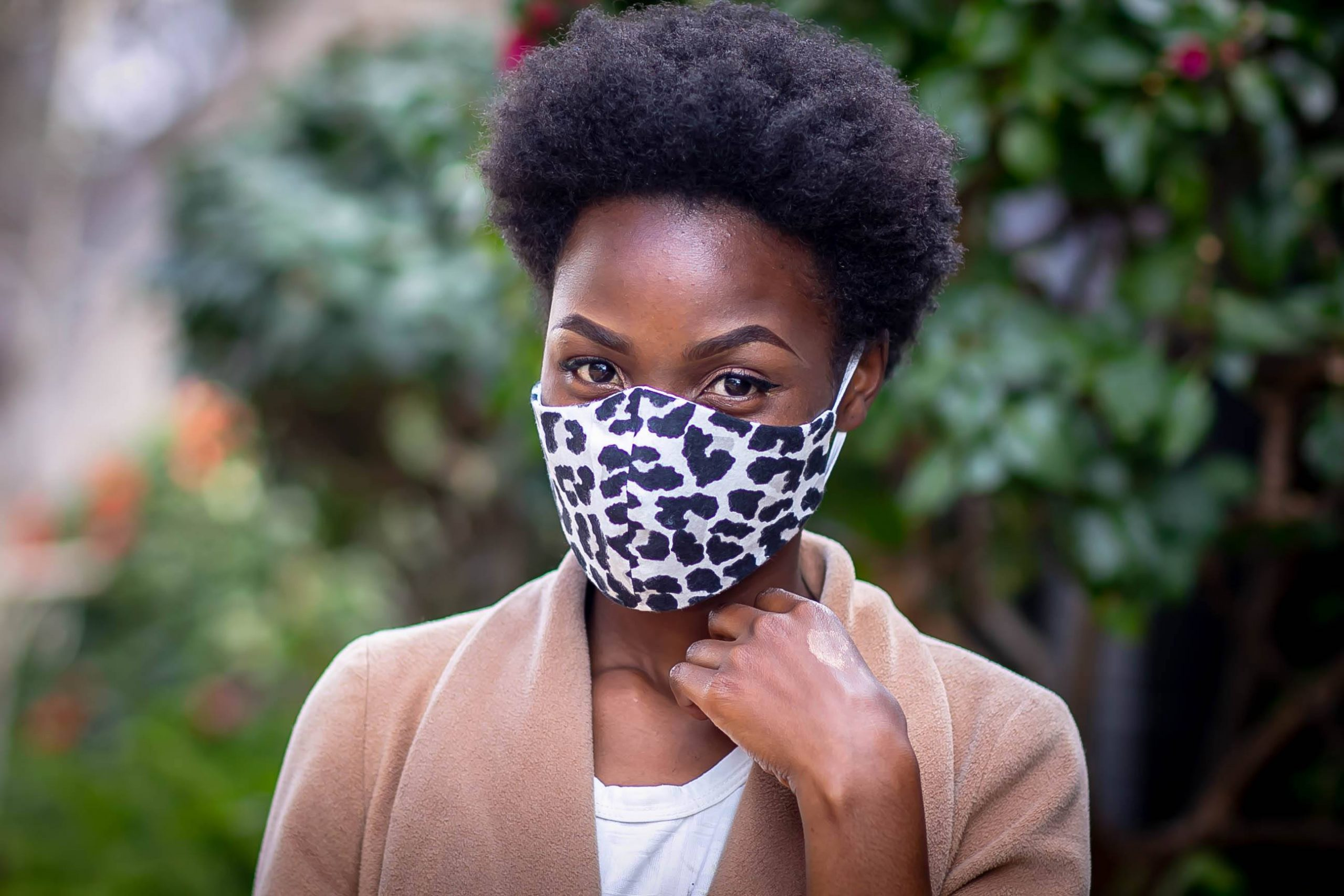 Leopard Print Felt Mask Kind Shop