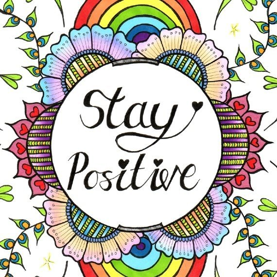 Positive Artwork Poster Print With Inspirational Positive Quote – Stay Positive Kind Shop 2