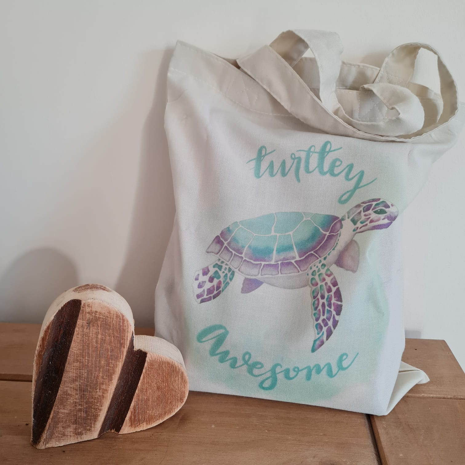 Reusable Shopping Bag Tote Turtle