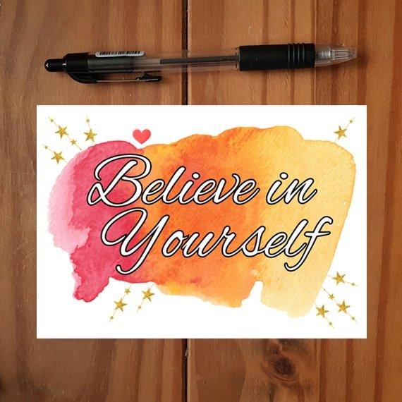 Positivity Postcards With Motivational Quotes Coloured Artwork – Set Of 4 Kind Shop 2