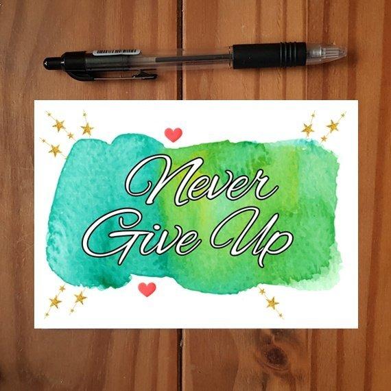Positivity Postcards With Motivational Quotes Coloured Artwork – Set Of 4 Kind Shop 3