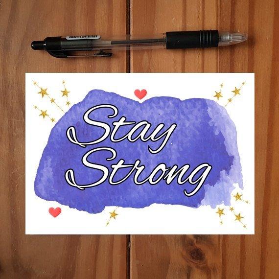 Positivity Postcards With Motivational Quotes Coloured Artwork – Set Of 4 Kind Shop 4