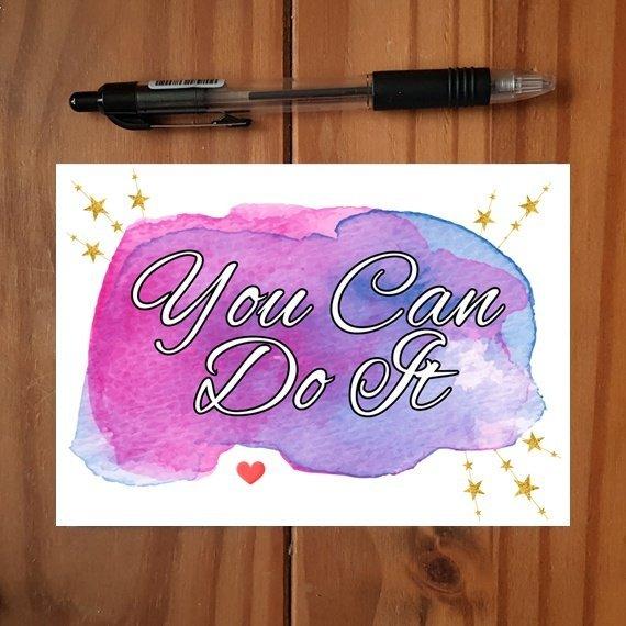 Positivity Postcards With Motivational Quotes Coloured Artwork – Set Of 4 Kind Shop 5