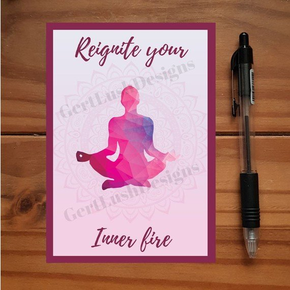 Yoga Meditation Art Positivity Postcards With Inspirational Quotes Coloured Artwork – Set Of 4 Kind Shop 5