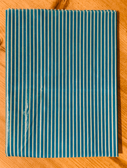 Extra Large Beeswax Wrap – Bread Wrap (Turquoise Pinstripe) Kind Shop