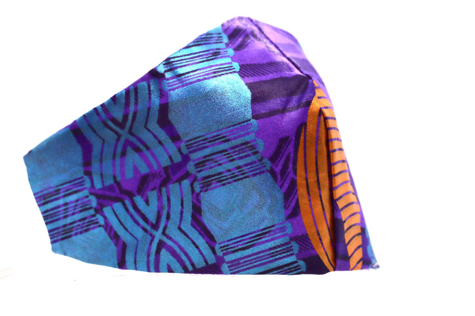 Printed Purple and Orange Glitter Mask Kind Shop 3