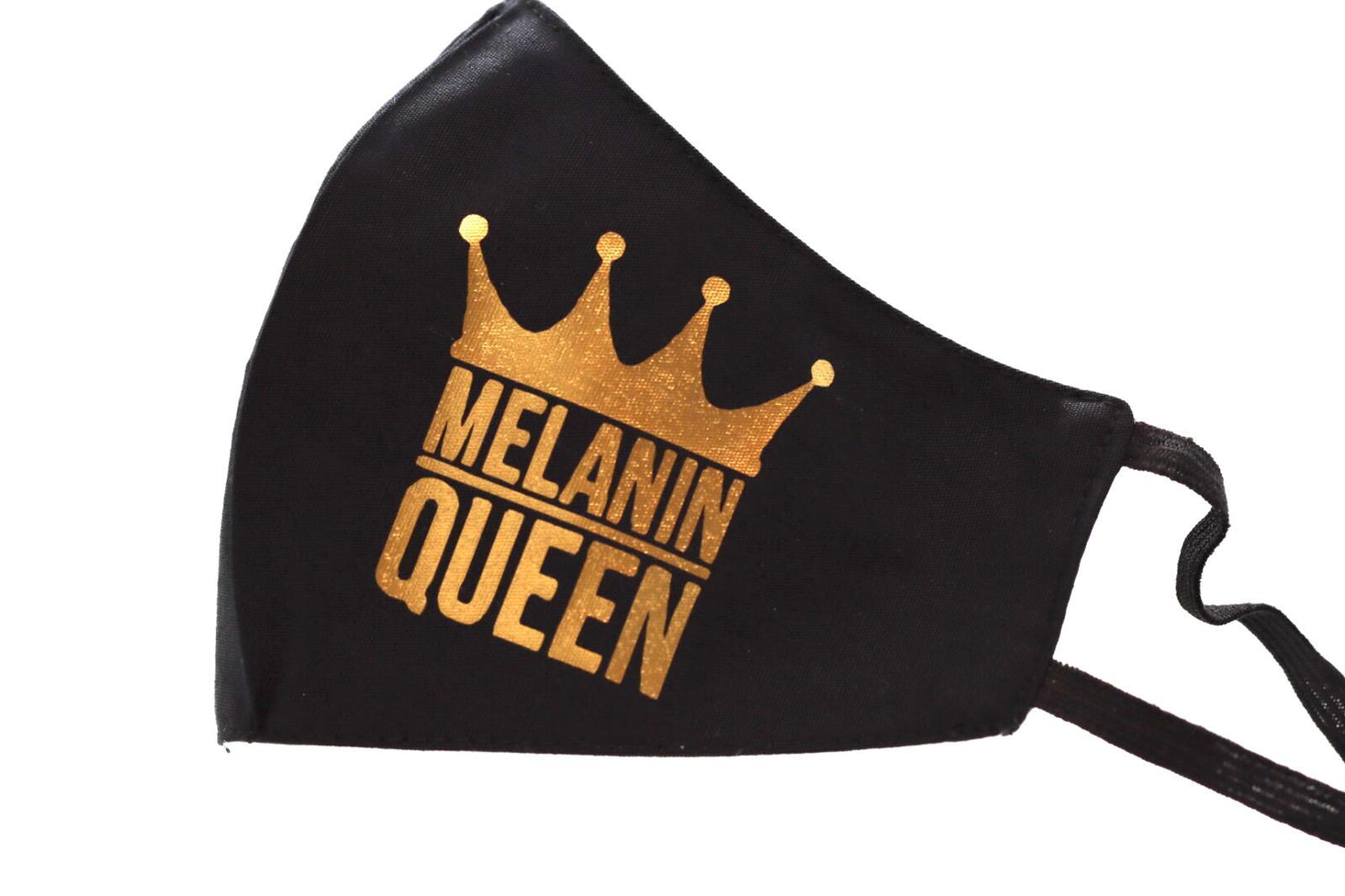 Gold Heat printed Melanin Queen Mask Kind Shop 2