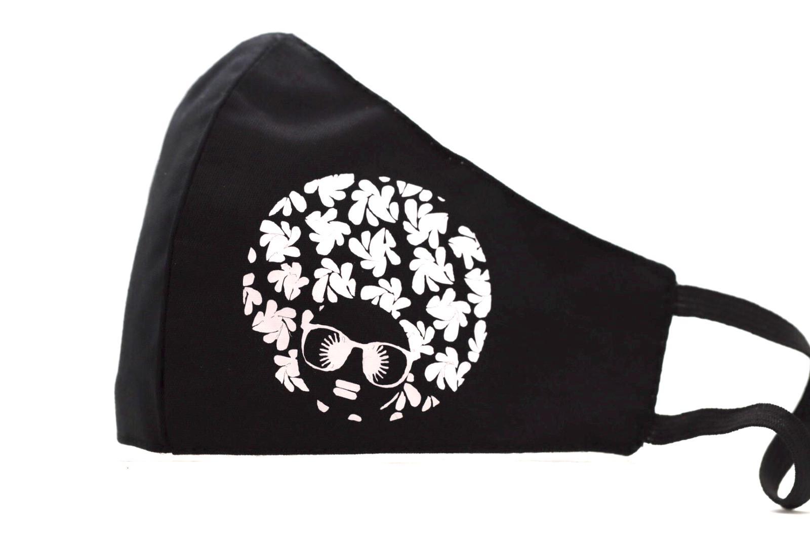 White Heat printed Afro Diva Mask Kind Shop 3