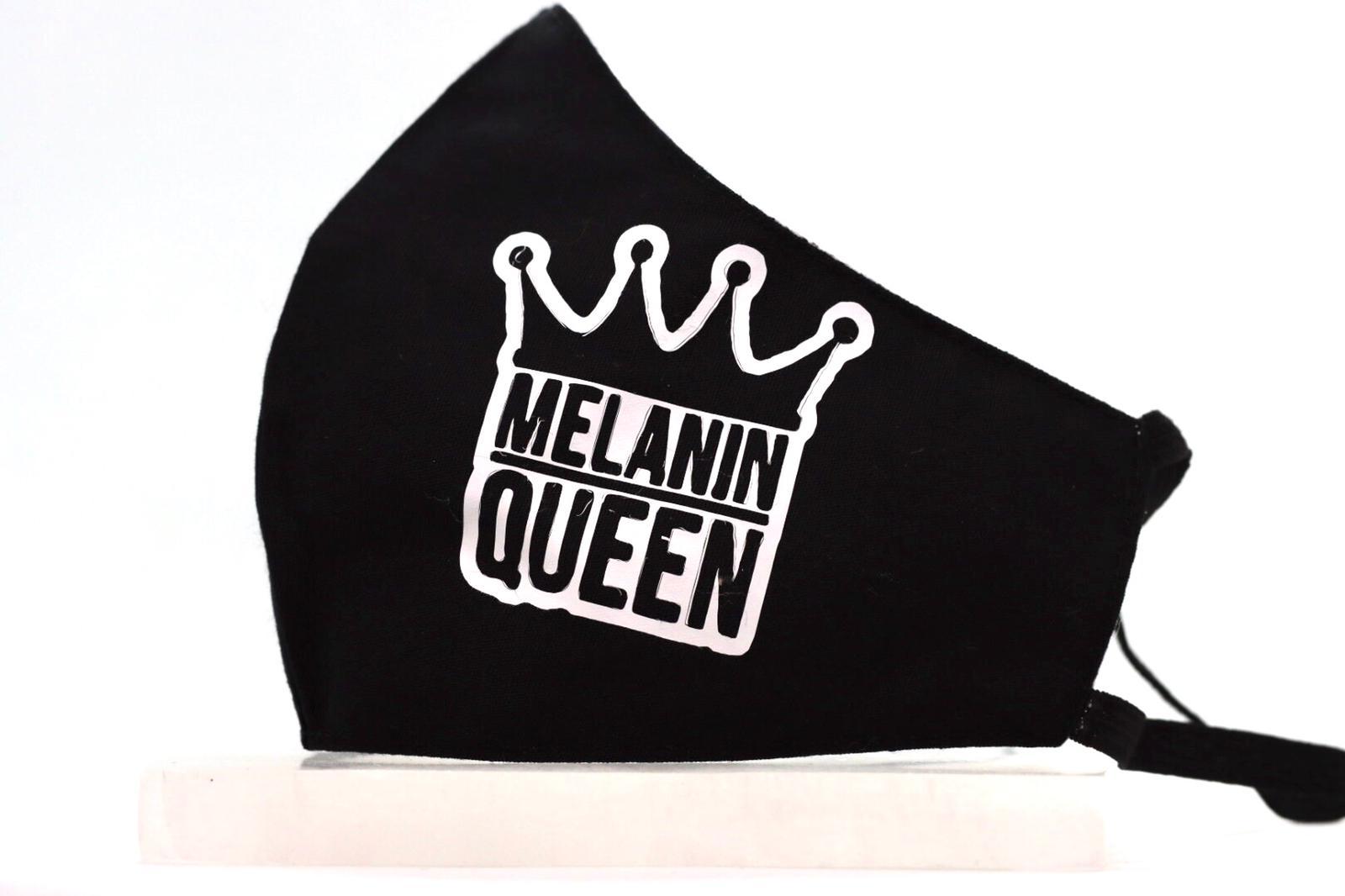 White Heat Printed Melanin Queen Mask Kind Shop 2