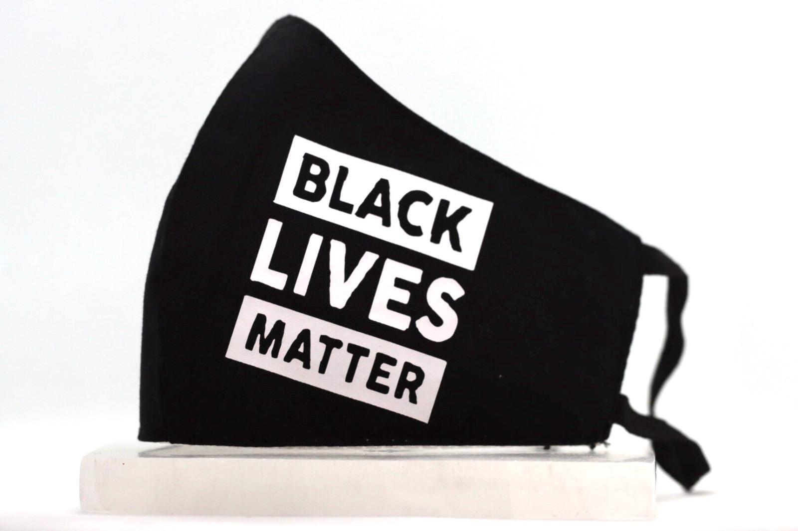 White Heat Printed Black Lives Matter Mask Kind Shop 2