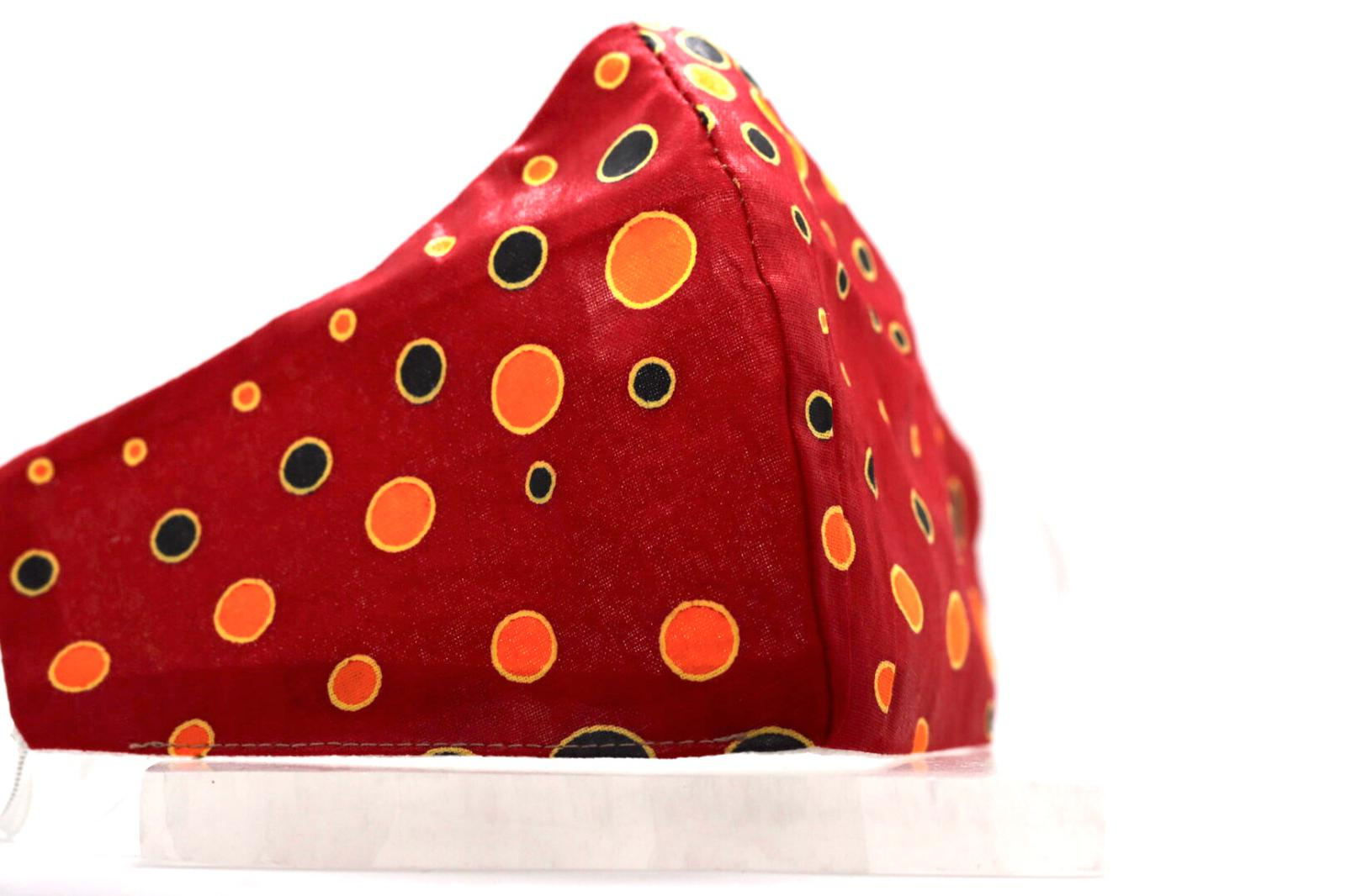 Printed Pepper Red, Yellow circular Mask Kind Shop 3